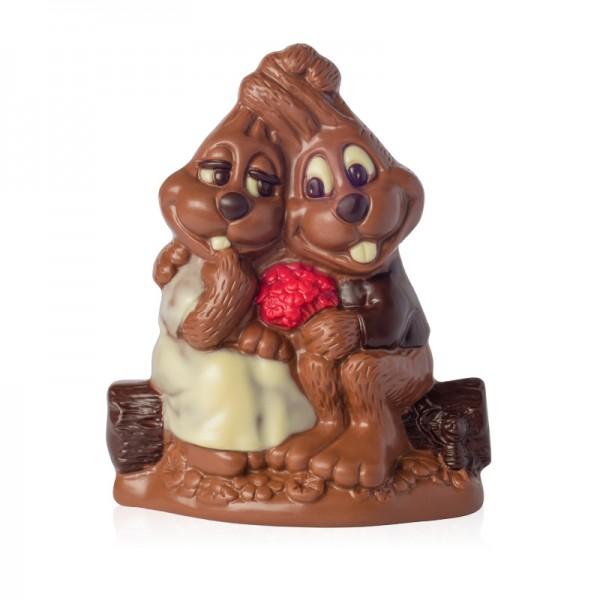 zakochane zajączki z czekolady