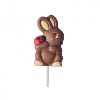 Lizak królik z biedronką