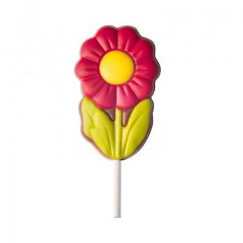 Lizak kwiat - czerwony
