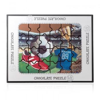 Puzzle z czekolady - piłka...
