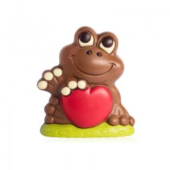 Czekoladowa żaba z sercem