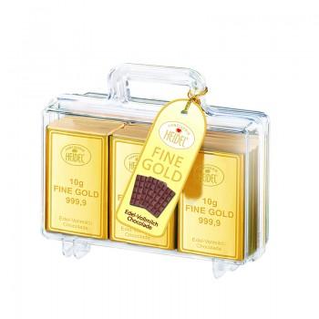 Złota walizka z czekoladkami