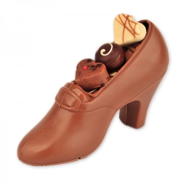 figurka pantofelek z pralinami